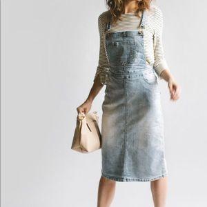 Dresses & Skirts - Emerson Light Denim Skirt Overalls